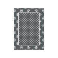 Gray | White Snowflake Pattern 5'x7'Area Rug