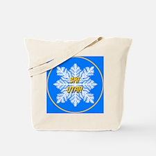 Ski Utah Snowflake Tote Bag