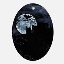 Spooky Night Sky Ornament (Oval)