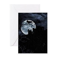 Spooky Night Sky Greeting Cards