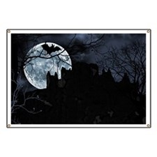 Spooky Night Sky Banner