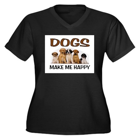 DOG HAPPY Plus Size T-Shirt
