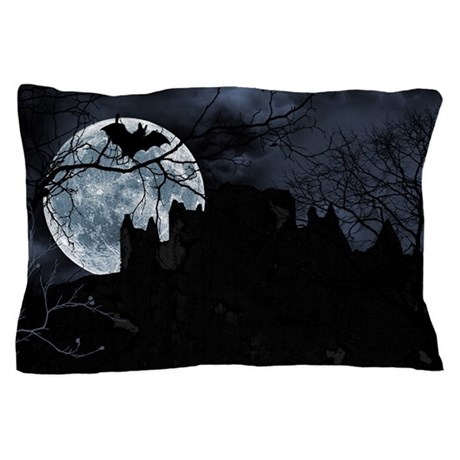 Spooky Night Sky Pillow Case By Opheliasart