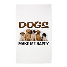 DOG HAPPY 3'x5' Area Rug