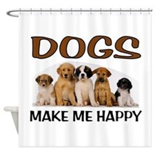 DOG HAPPY Shower Curtain