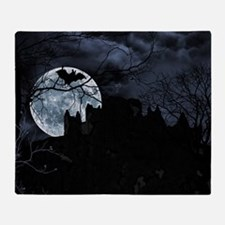 Spooky Night Sky Throw Blanket