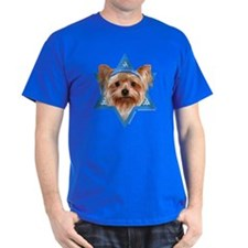 Hanukkah Star of David - Yorkie T-Shirt