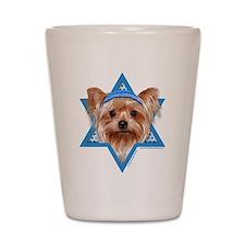 Hanukkah Star of David - Yorkie Shot Glass