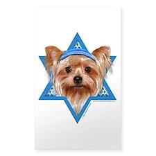 Hanukkah Star of David - Yorkie Decal