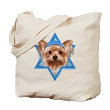 Hanukkah Star of David - Yorkie Tote Bag