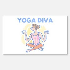 Yoga Diva Rectangle Decal