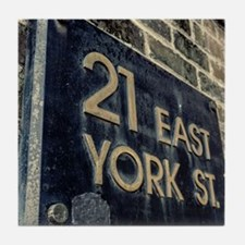 EAST YORK ST. * Tile Coaster