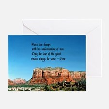 Law of Spirit Greeting Card