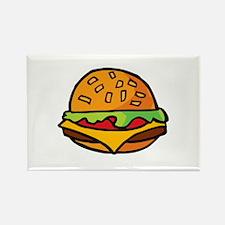 Cheeseburger Rectangle Magnet (10 pack)