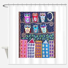 Night Owls Shower Curtain