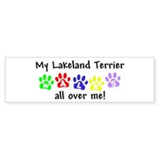 Lakeland Terrier Walks Bumper Bumper Sticker
