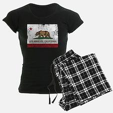 california flag los angeles distressed Pajamas