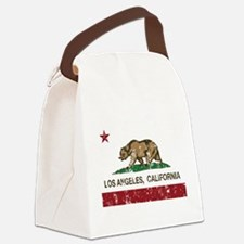 california flag los angeles distressed Canvas Lunc