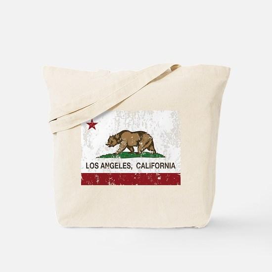 california flag los angeles distressed Tote Bag