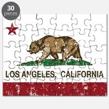 california flag los angeles distressed Puzzle