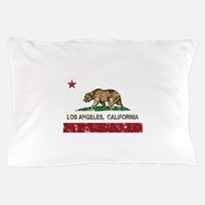 california flag los angeles distressed Pillow Case