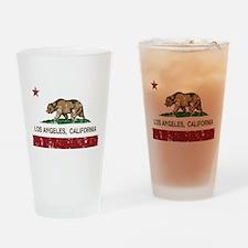 california flag los angeles distressed Drinking Gl