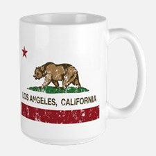 california flag los angeles distressed Mugs