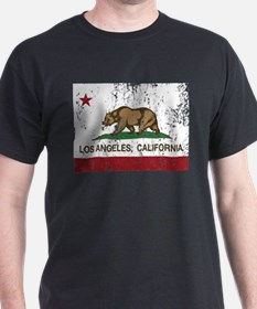 california flag los angeles distressed T-Shirt