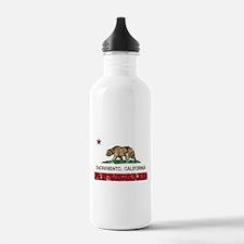 california flag sacramento distressed Water Bottle