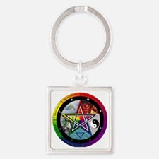 Wheel of the Year Square Keychain