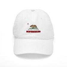 california flag san jose distressed Baseball Baseball Cap