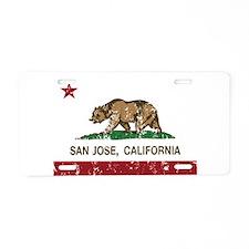 california flag san jose distressed Aluminum Licen