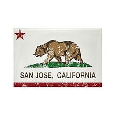 california flag san jose distressed Magnets