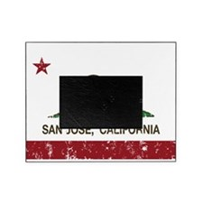 california flag san jose distressed Picture Frame