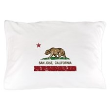 california flag san jose distressed Pillow Case
