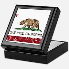 california flag san jose distressed Keepsake Box