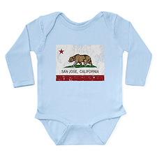 california flag san jose distressed Body Suit