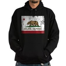 california flag san jose distressed Hoodie