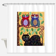 Autumn owls Shower Curtain