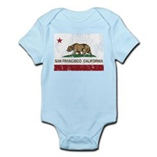 california flag san francisco distressed Body Suit