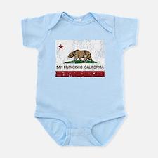 california flag san francisco distressed Body Suit