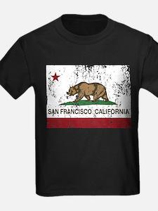 california flag san francisco distressed T-Shirt