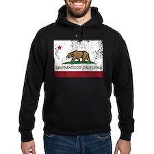 california flag san francisco distressed Hoodie