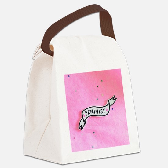 feminist Canvas Lunch Bag