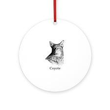 Coyote (line art) Ornament (Round)