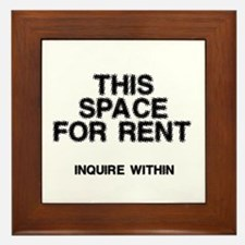 This Space For Rent Framed Tile