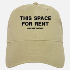 This Space For Rent Baseball Baseball Cap