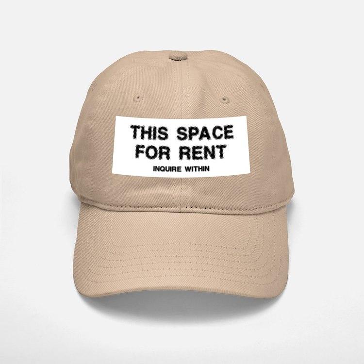 This Space For Rent Baseball Baseball Cap