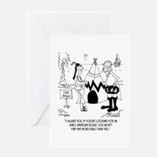 Early American House is a Tee Pee Greeting Card
