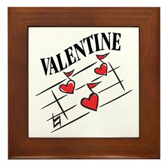 Valentine Love Notes Framed Tile
